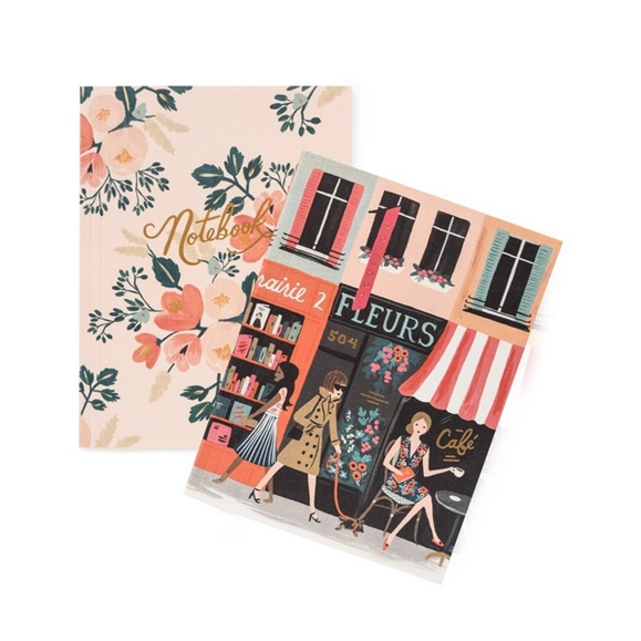 Assorted Paper Crown Parisian Notebooks - Pack of 2