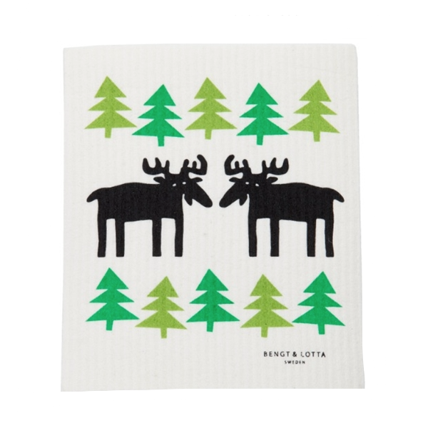 Moose in the Forest Dishcloth - Northlight Homestore