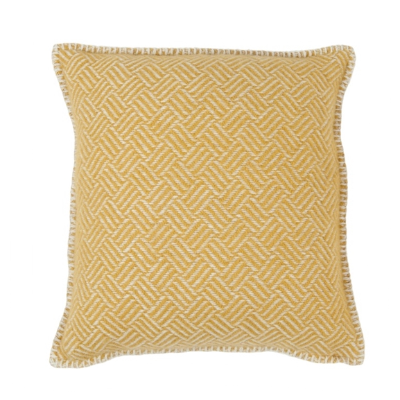 Samba Yellow Lambs Wool Cushion Cover