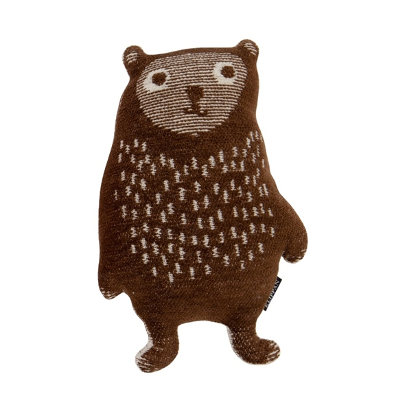 Organic Cotton Chenille Brown Toy Little Bear - Northlight Homestore
