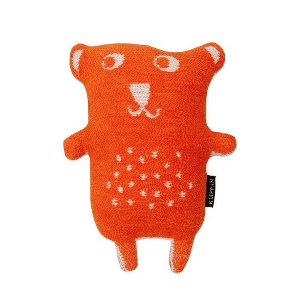 Organic Cotton Chenille Orange Toy Little Bear - Northlight Homestore