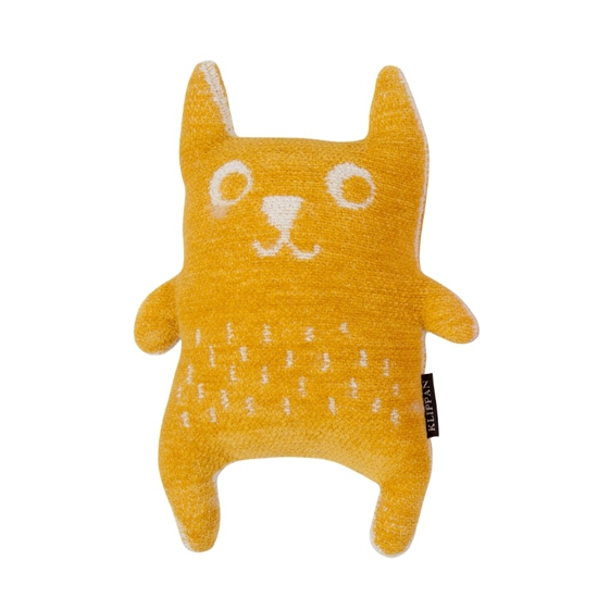 Organic Cotton Chenille Yellow Toy Little Bear - Northlight Homestore