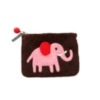 Elephant Pink Felt Purse - Northlight Homestore