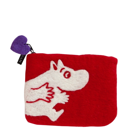 Moomin Red Felt Purse