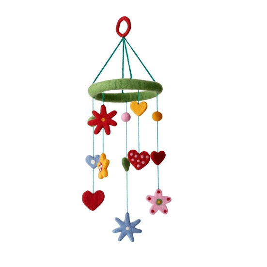 Heart & Flowers Mobile - Northlight Homestore
