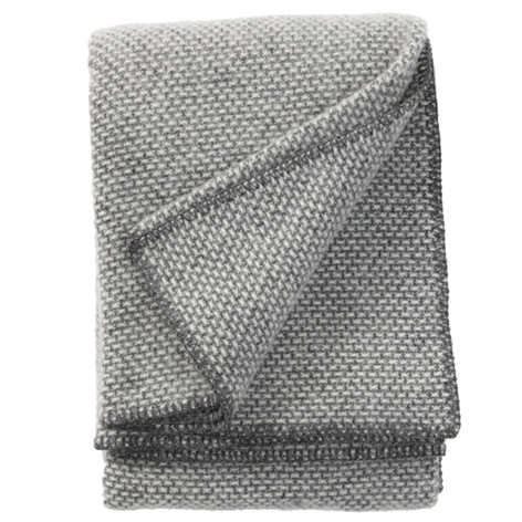 Domino Dark Grey Lambswool Throw