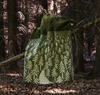 House In The Forest Green Wool Blanket - Northlight Homestore