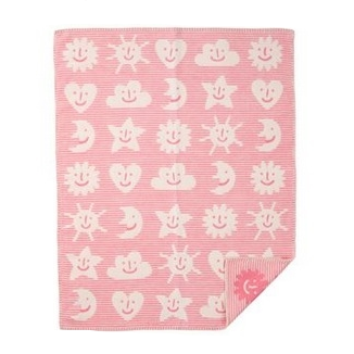 Sky Pink Brushed Cotton Blanket - Northlight Homestore