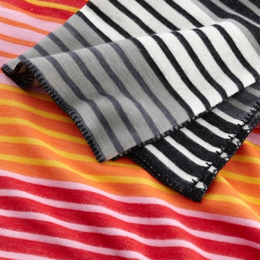 Stripe Cotton Children's Blanket Magenta - Northlight Homestore