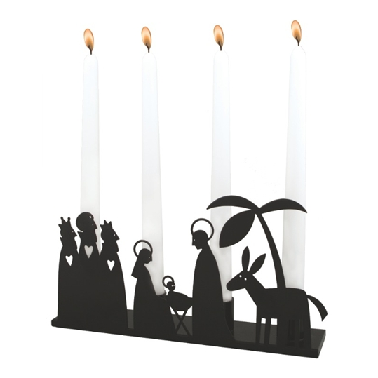 Crib Black Candle Holder
