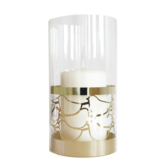 Gold Bird Glass Tea Light Holder - Northlight Homestore