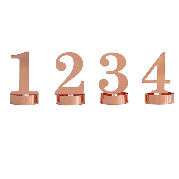 Numbers Metal Candle Holders