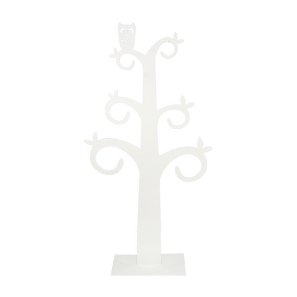 Owl White Jewellery Tree