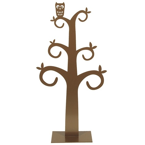 Owl Gold Jewellery Tree