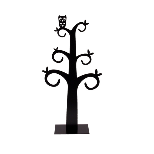 Owl Black Jewellery Tree