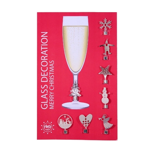 Merry Christmas Wine Glass Decoration