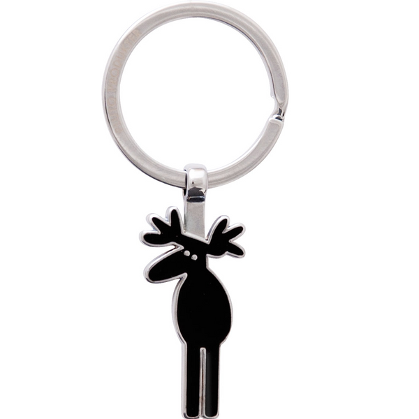 Black Moose Keyring