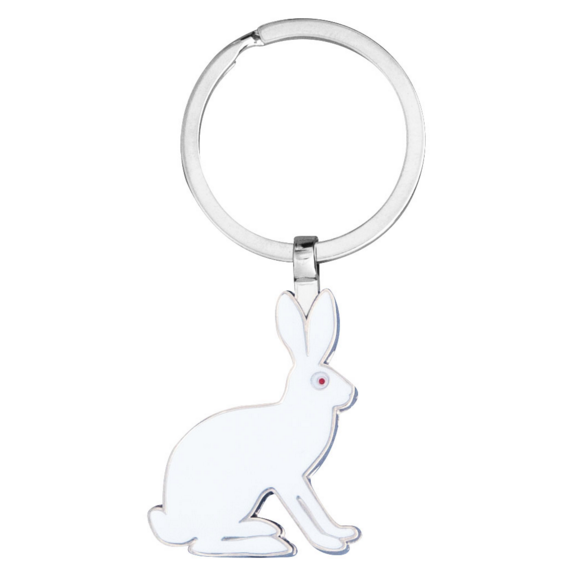 White Hare Keyring - Northlight Homestore