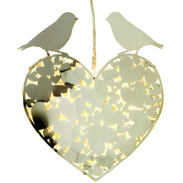 Lovebirds White Light LED Decoration