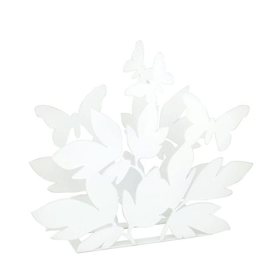Butterfly White Napkin Holder