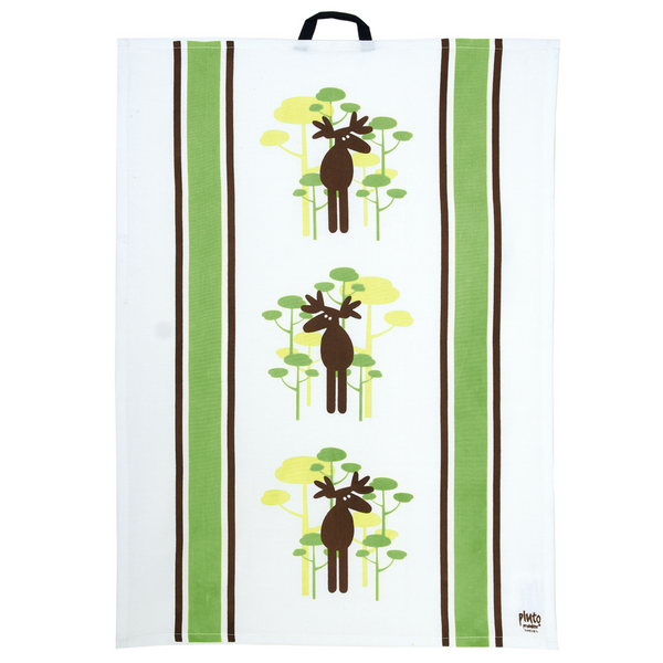 Moose & Tree Lime Tea Towel