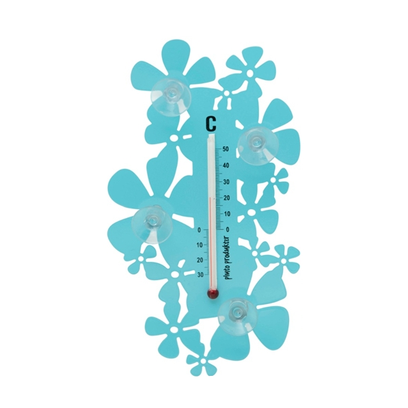 Flower Turquoise Thermometer - Northlight Homestore