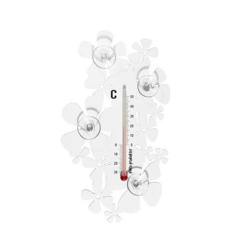 Flower White Thermometer