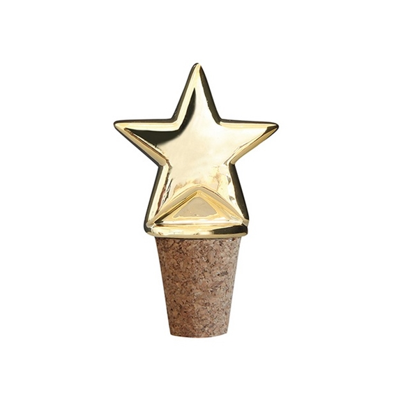 Star Gold Bottle Stopper