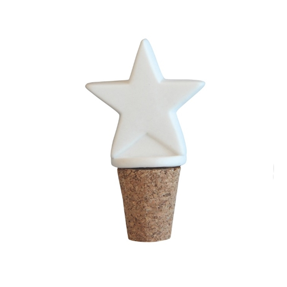 Star White Bottle Stopper