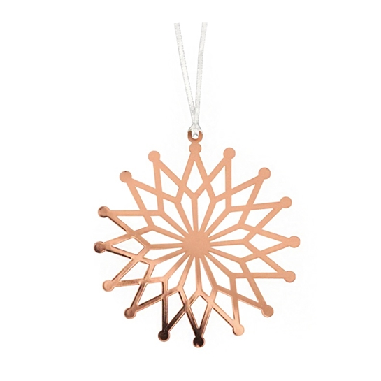 Copper Flower Star Decoration