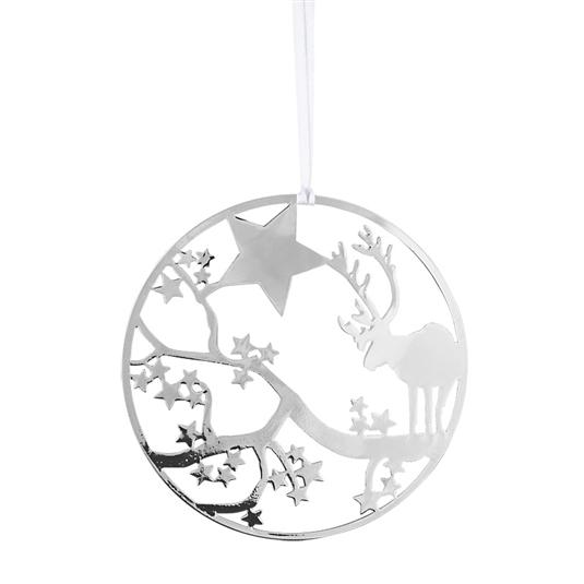 Deco Deer Silver Decoration