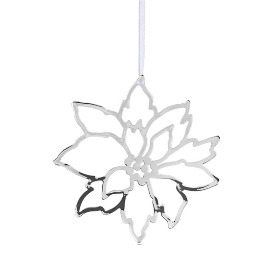Deco Xmas Star Silver Decoration