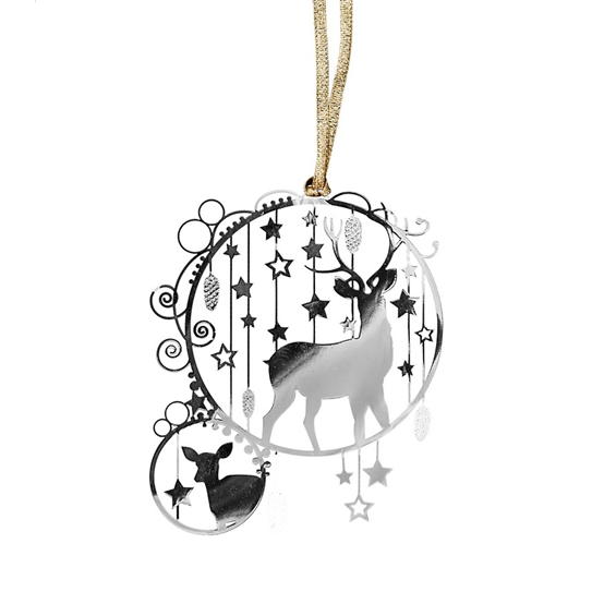 Deluxe Deer Silver Decoration