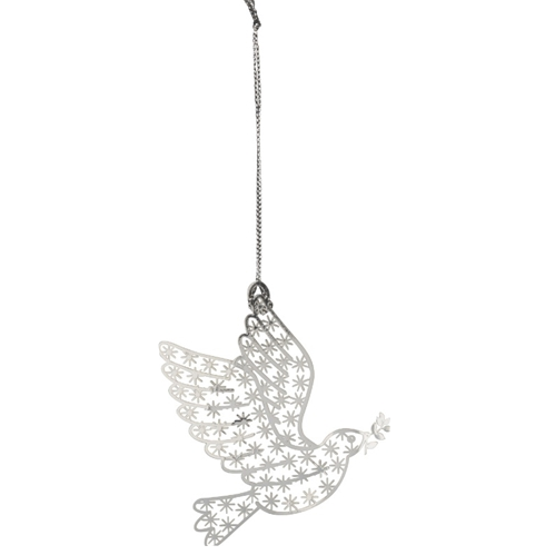 Dove Silver Decoration - Northlight Homestore