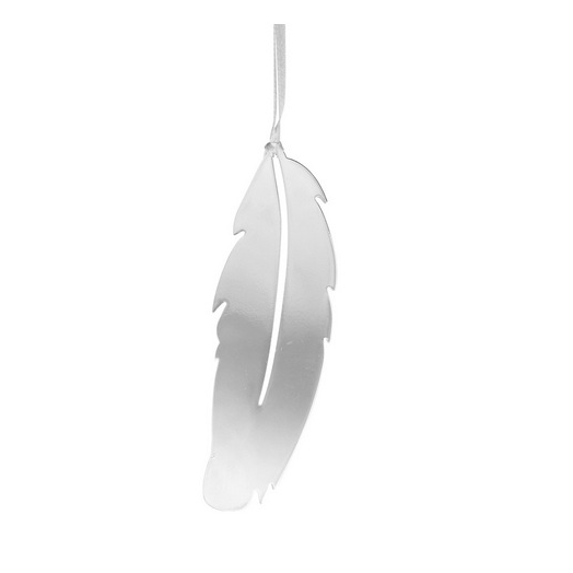 Feather Silver Decoration