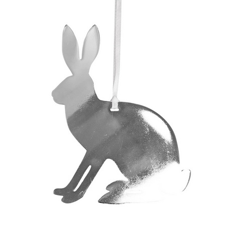 Hare Silver Decoration