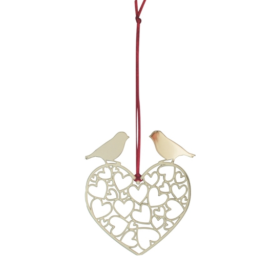 Lovebirds Gold Decoration