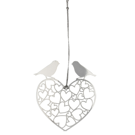 Lovebirds Silver Decoration