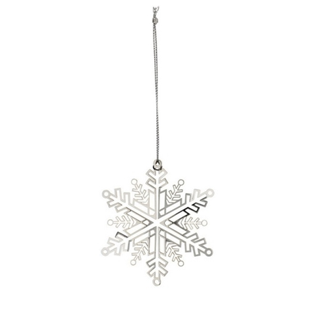 Snowflake Silver Decoration