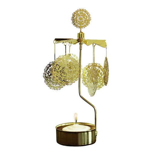 Dandelion Gold Rotary Candle Holder - Northlight Homestore