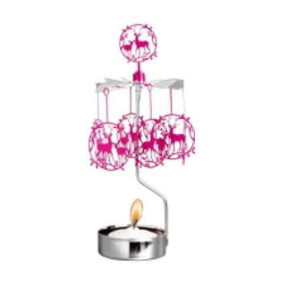 Deer Kid Pink Rotary Candle Holder