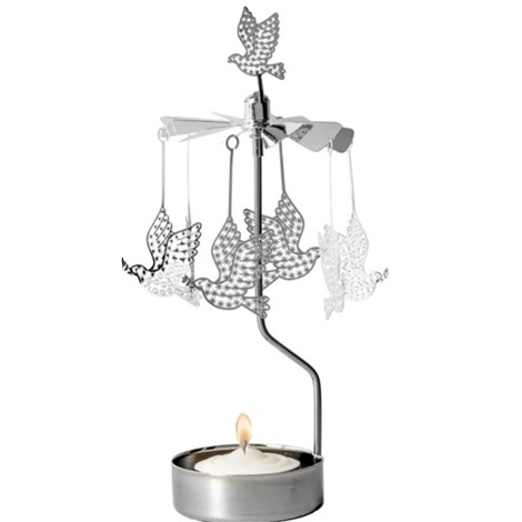 Dove Rotary Tealight Candle Holder
