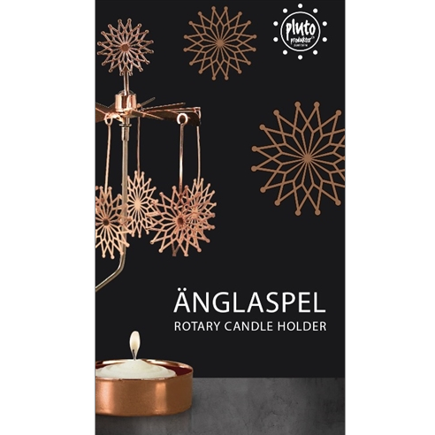 Flowerstar Copper Rotary Tealight Candle Holder