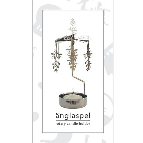 Mistletoe Branch Rotary Tealight Candle Holder