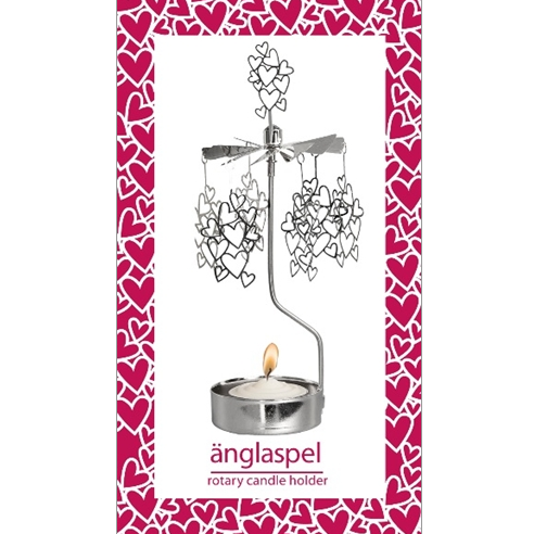 Small Hearts Rotary Tealight Candle Holder