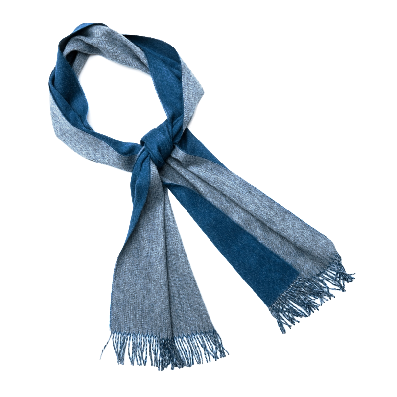 Alpaca Light Grey/Petrol Unisex Scarf - Northlight Homestore