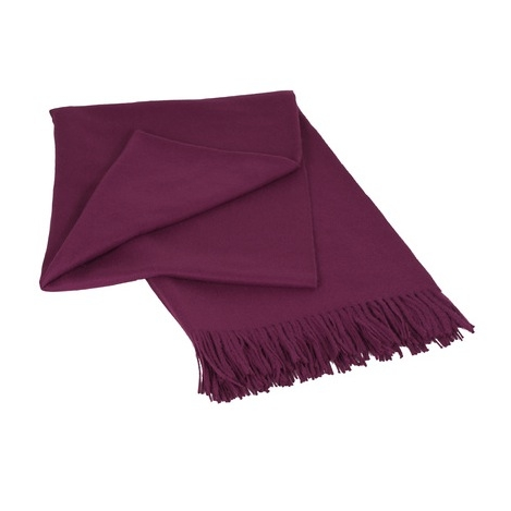 Luxury Violet Red 100% Baby Alpaca Throw