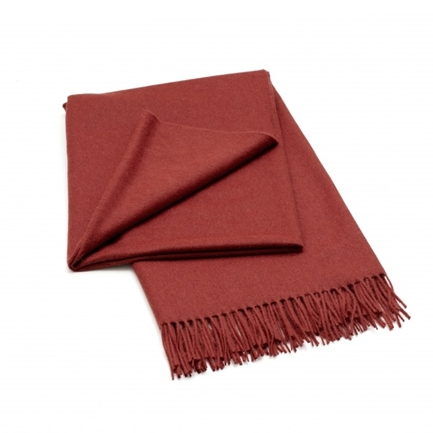 Classic Red Magma Alpaca Blend Throw - Northlight Homestore