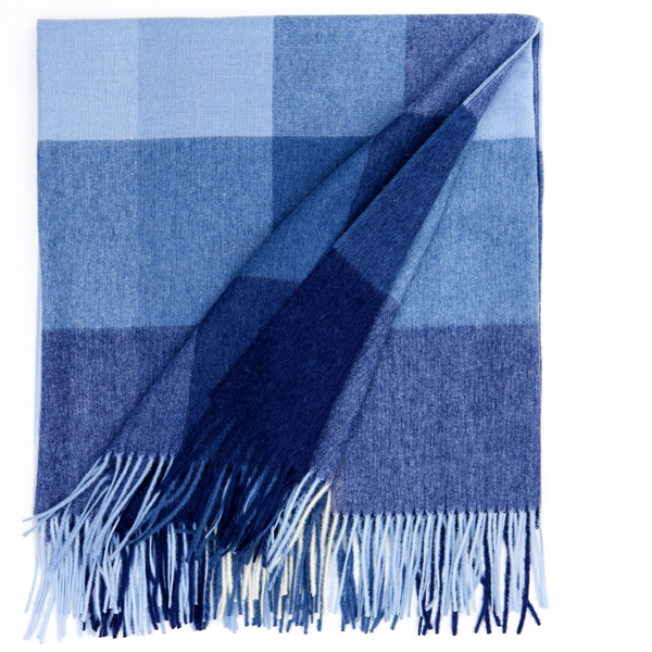 Inca Stones Dusty Navy Alpaca Blend Throw - Northlight Homestore