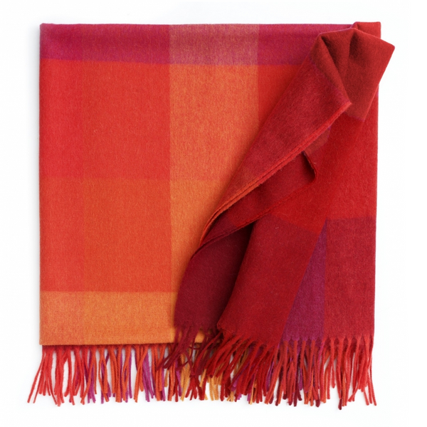 Inca Stones Flame Red Alpaca Blend Throw